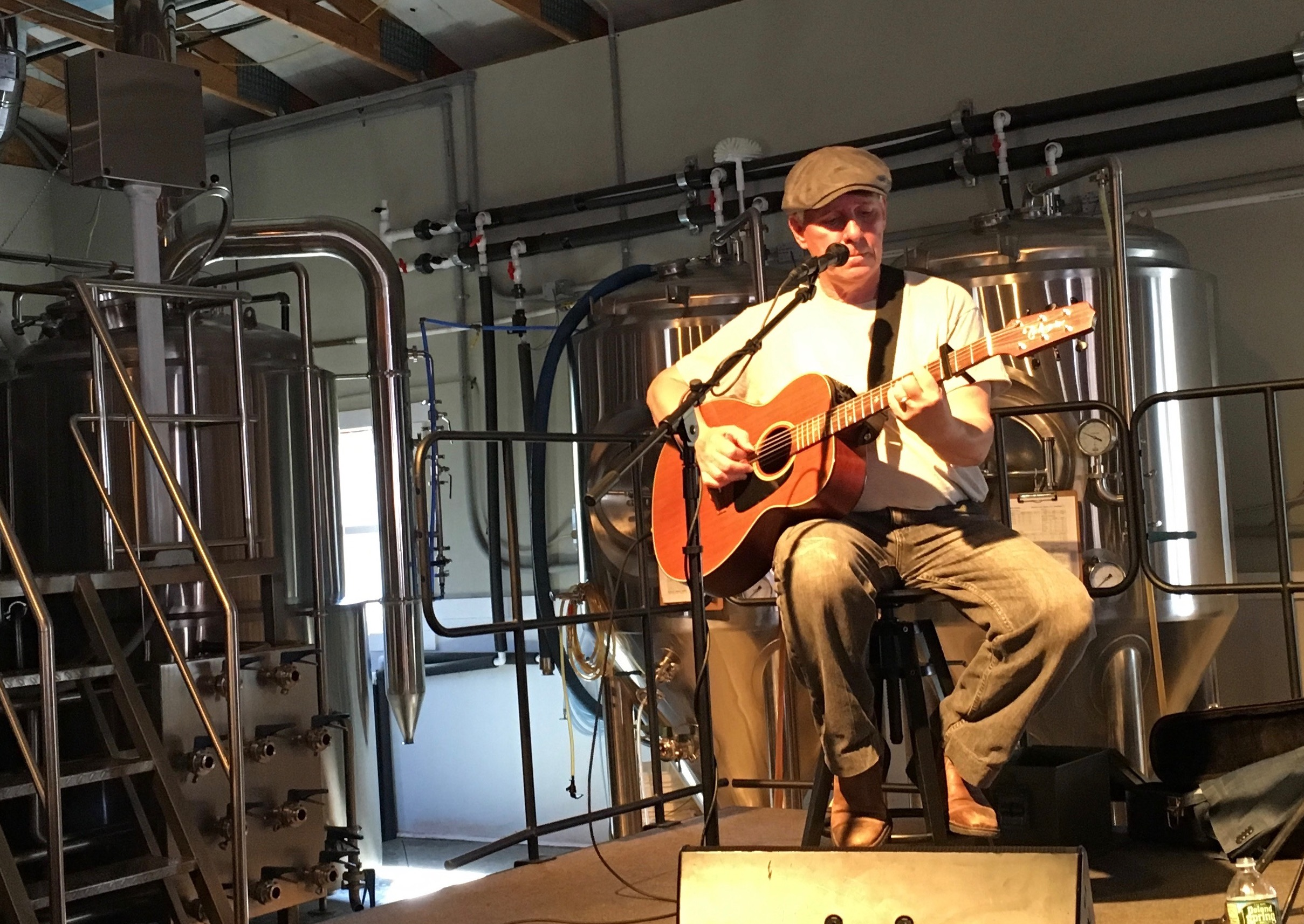 performing at the brewery